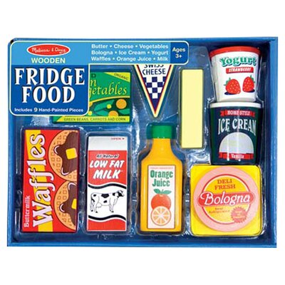 Melissa Amp Doug 8 Piece Fridge Food Set Amp Reviews Wayfair