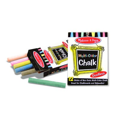 Melissa & Doug Multi-Colored Chalk (12 pc)