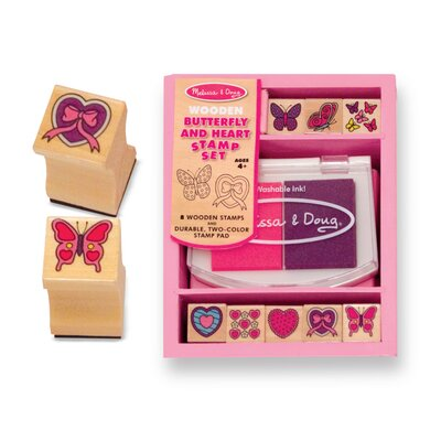Butterfly and Hearts Stamp Set by Melissa & Doug