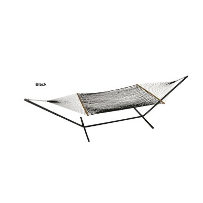 Buyers Choice Phat Tommy Hand Woven Olefin Rope Hammock with Stand