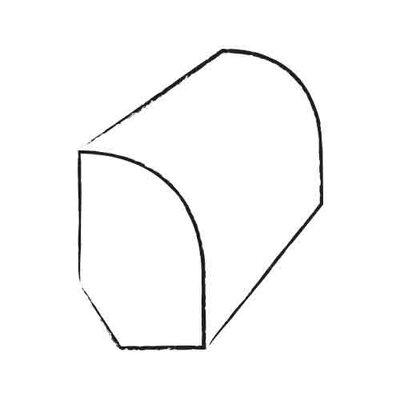 "Hawa Bamboo 0.44"" x 3"" x 72"" Bamboo Base / Shoe Molding in Carbonized"
