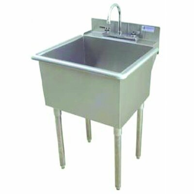 """Griffin 24"""" x 24"""" Single Utility Sink with Drain Faucet"""