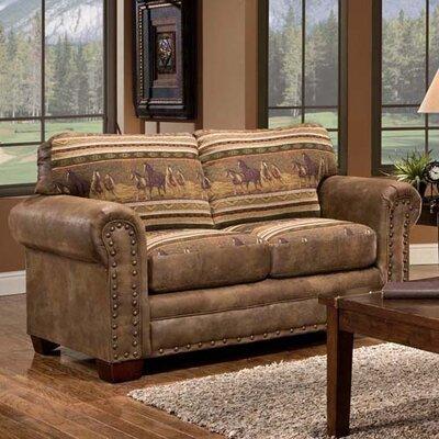 Wild Horses Lodge Loveseat by American Furniture Classics