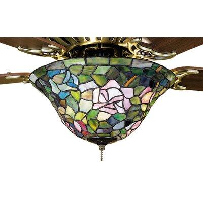 Meyda Tiffany Tiffany Rosebush 3 Bowl Ceiling Fan Light