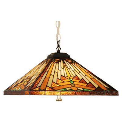 Mission Arts and Crafts Southwest Nuevo 4 Light Pool Table Light by Meyda Tiffany