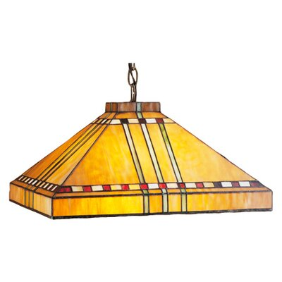 Mission Arts and Crafts Stickley Prairie Corn 4 Light Pool Table Light by Meyda Tiffany ...