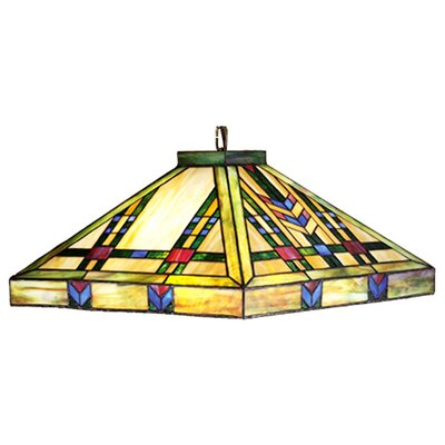 Mission Arts and Crafts Southwest Prairie 4 Light Pool Table Light by Meyda Tiffany