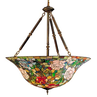 Meyda Tiffany Tiffany Rosebush 5 Light Inverted Pendant
