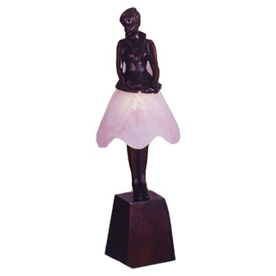 """Meyda Tiffany Silhouette Breezy Lady 17.5"""" H Table Lamp with Empire Shade"""