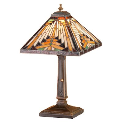 """Meyda Tiffany Nuevo Mission 18"""" H Table Lamp with Square Shade"""