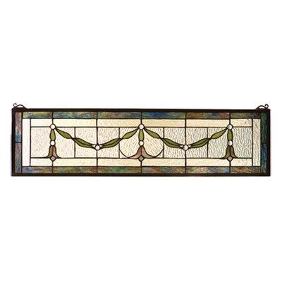 Meyda Tiffany Floral Garland Swag Stained Glass Window