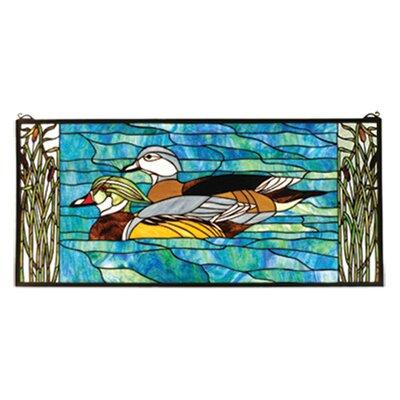Meyda Tiffany Wood Ducks Stained Glass Window