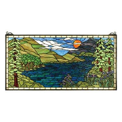 Meyda Tiffany Lodge Tiffany Sunset Meadow Stained Glass Window