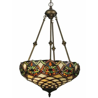 Meyda Tiffany Tiffany Nouveau Franco 2 Light Inverted Pendant