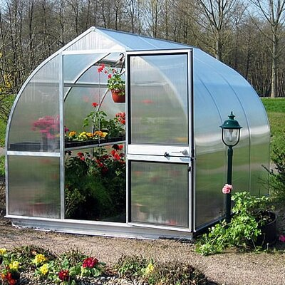 Riga IIIs 10.5 Ft. W x 10.5 Ft. D Polycarbonate Greenhouse by Hoklartherm
