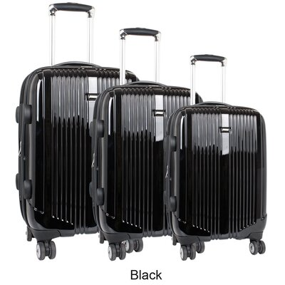 Concord 3 Piece Polycarbonate Expandable Spinner Luggage Set by J World