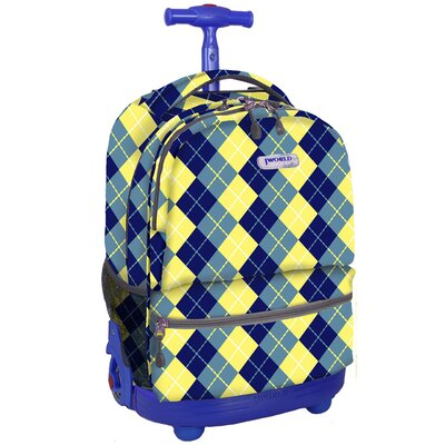 Sunshine Double Pocket Rolling Backpack by J World
