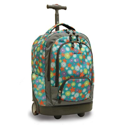 Sunbeam Laptop Rolling Backpack by J World