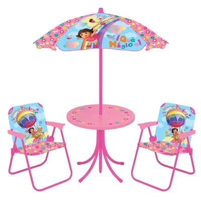 Dora OTR Kids 4 Piece Kids Round Patio Table Set by Kids Only
