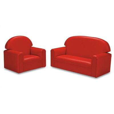 Brand New World Just Like Home Vinyl Upholstery Sofa and Chair Set