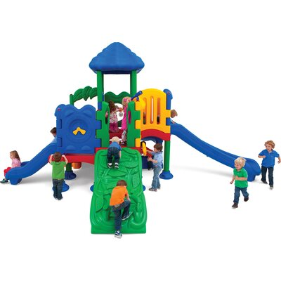 Ultra Play Discovery Center 5 Deck Play Structure with Roof