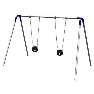 UPlay Today Single Bay Swing Set with Commercial Tot Seats Product Photo