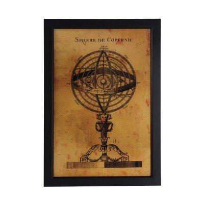 Vintage Globe Framed Wall Art by Privilege