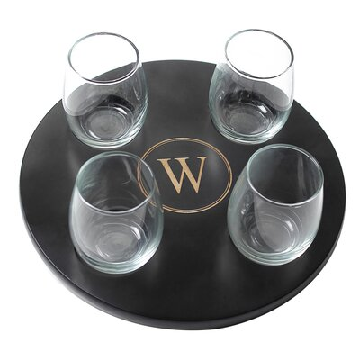 Cathys Concepts 4 Piece Stemless Wine Glass Set