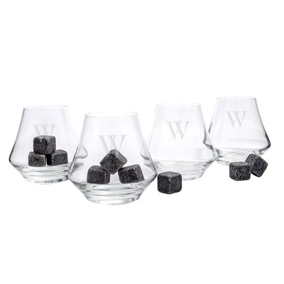 4 Piece Personalized Whiskey Glass Set by Cathys Concepts