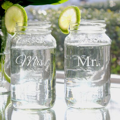 Mr. and Mrs. 26-oz. Ball Jar