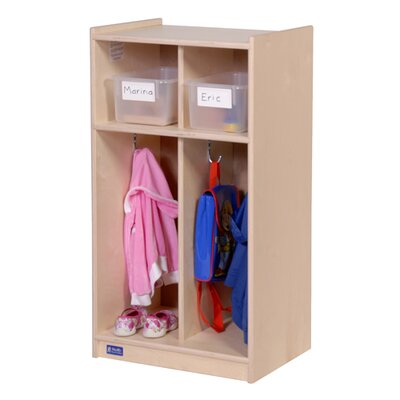 Steffy Wood Products 1 Tier 2-Section Toddler Locker