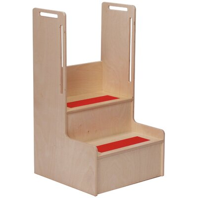 "Steffy Wood Products 2-Step 11-Ply Birch Veneer Plywood ""I Can Reach"" Handy Children's Step Stool"