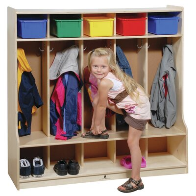 Steffy Wood Products 1 Tier 5-Section Seat tep Locker