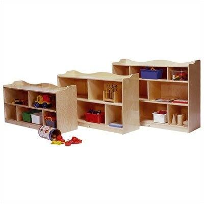 Steffy Wood Products Scalloped Mobile Toddler Storage Unit