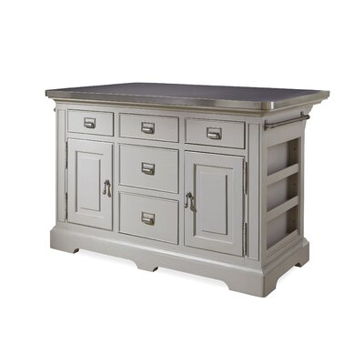 Dogwood Kitchen Island with Stainless Steel Counter Top Product Photo