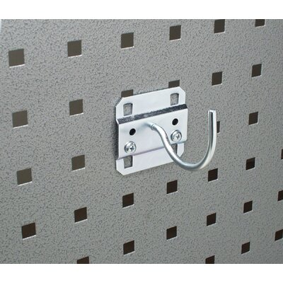 Triton Products LocHook 2-1/4 In. Curved 2 In. I.D. Zinc Plated Steel Pegboard Hook for LocBoard, 5 Pack