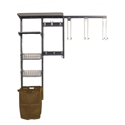 Triton Products Wall Mount Storage Center With Heavy Duty Hanging Hooks