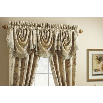 "Iris Rod Pocket Swag 44"" Curtain Valance Product Photo"