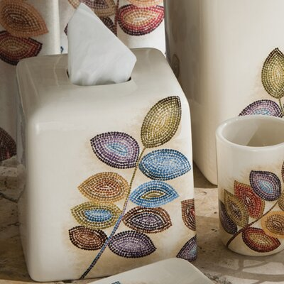Croscill Home Fashions Mosaic Leaves Tissue Cover
