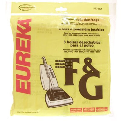 Eureka® Type F and G Disposable Dust Bag