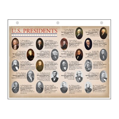 United States Presidents Notebook Primer Map by Universal Map