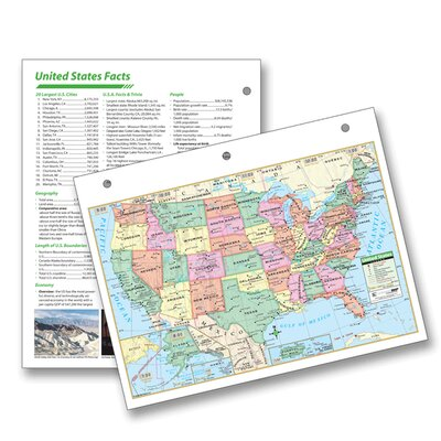 United States Notebook Map with Fact Sheet by Universal Map