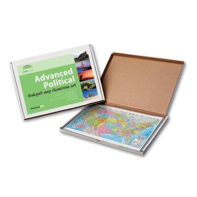 Universal Map Advanced Political Deskpad Class Set - United States