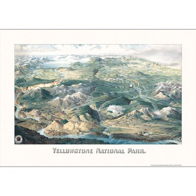Yellowstone National Park 1904 Historical Map by Universal Map