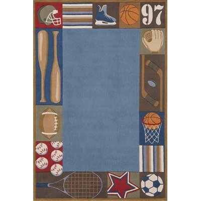 Momeni Lil' Mo Whimsy Denim Blue Area Rug