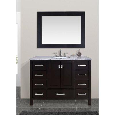"Malibu 48"" Single Bathroom Vanity Set with Mirror Product Photo"