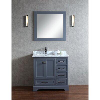 "Newport 36"" Single Sink Bathroom Vanity Set with Mirror Product Photo"