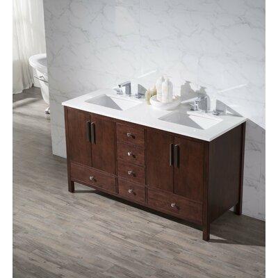 Stufurhome Rockford 59 Double Sink Bathroom Vanity Set Reviews Wayfair