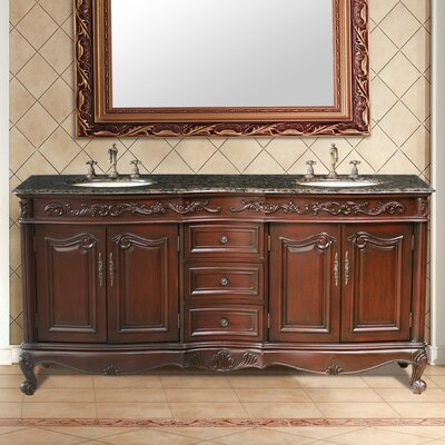 "Stufurhome Saturn 72"" Double Bathroom Vanity Set"