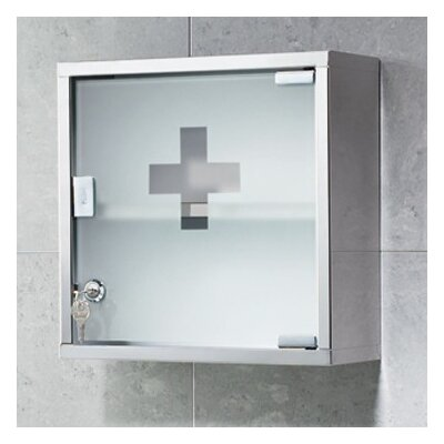 "Gedy by Nameeks Joker 11.8"" x 11.8"" Surface Wall Mounted Medicine Cabinet"